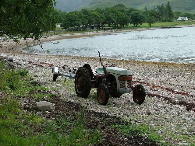 Tractor at Camas Ban