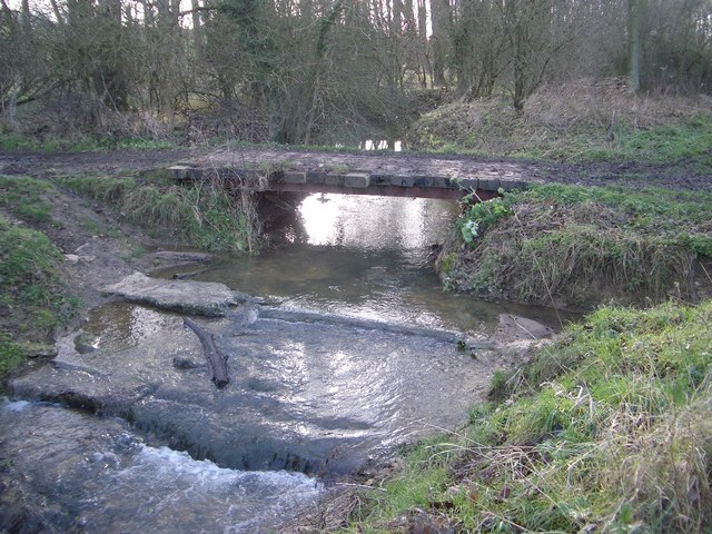 Byway Bridge & Stream between Farndish & Wymington