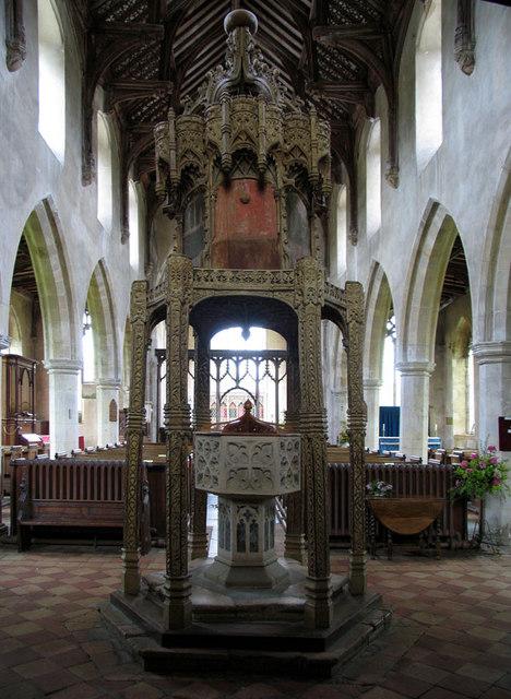 St Botolph, Trunch, Norfolk - Font