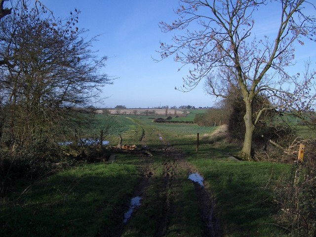 Byway & Footpath Junction north of Poddington
