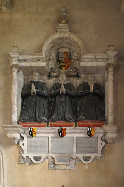 The Apreece brothers monument in the Church