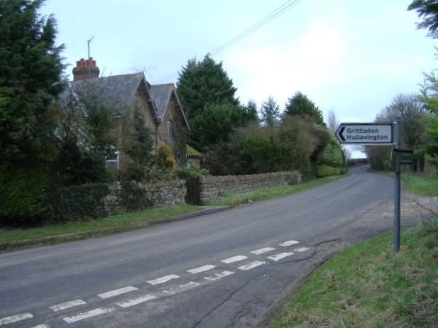 Road junction near Wood Barn farm