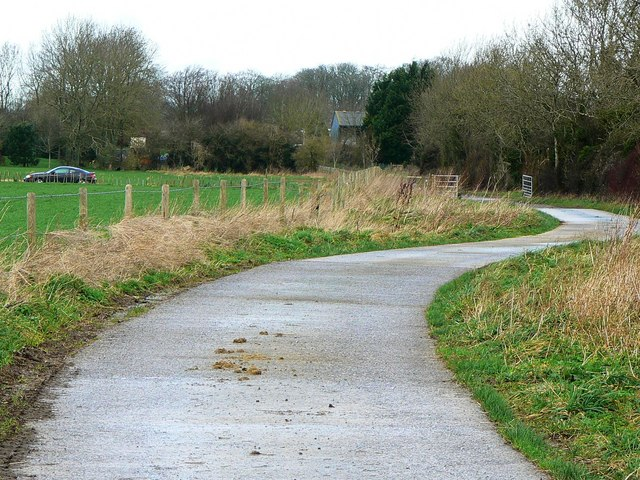 Entrance to Bridleway at SU154790