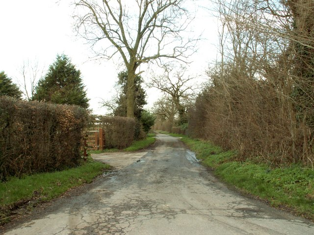 Allotment Lane in Ashbocking