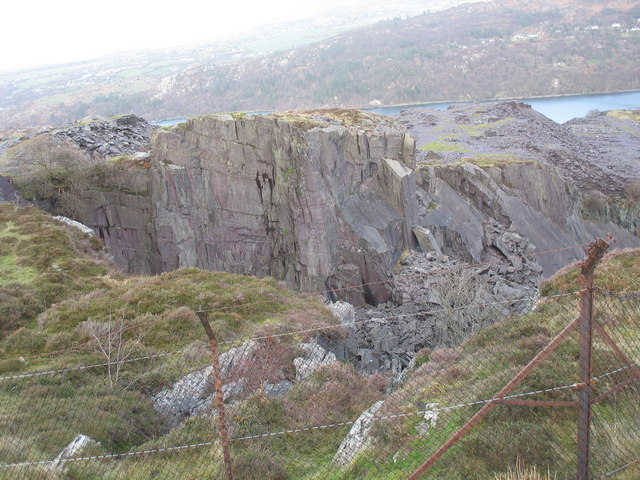 Upper pit of Upper Glynrhonwy Quarry