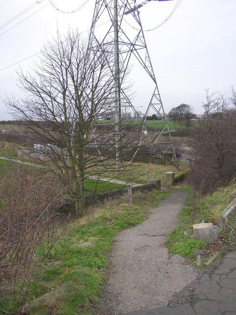 Footpath into Huddersfield Crematorium, Bradley