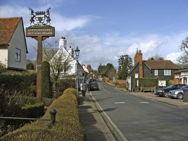 High Street, Much Hadham, Hertfordshire, looking south