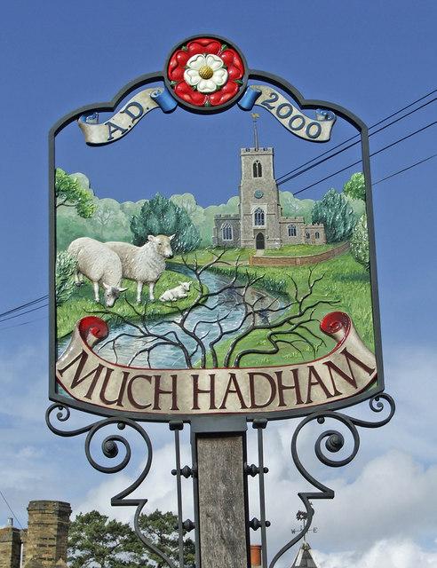 Village Sign, Much Hadham, Hertfordshire