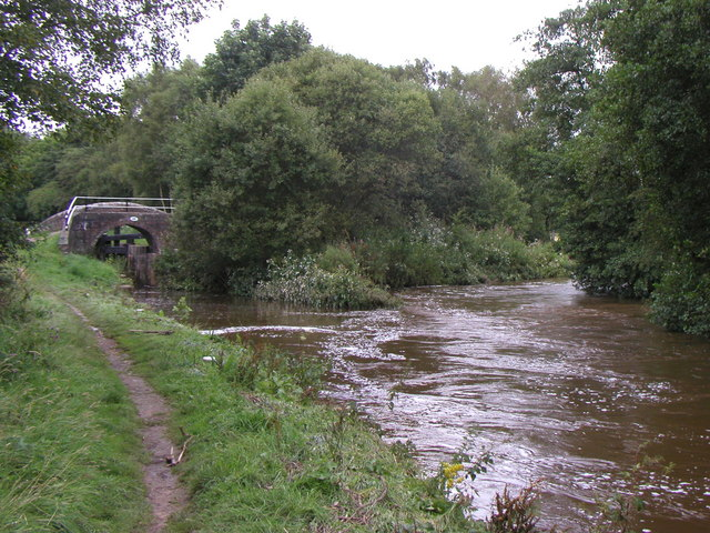 The Caldon Canal meets the River Churnet