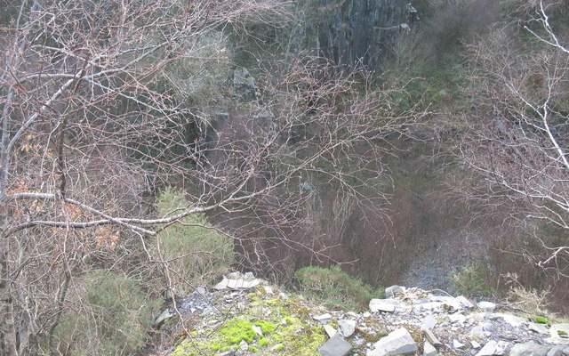 The view from the edge of Upper Glynrhonwy's  lower pit