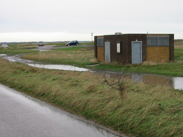 The new public convenience on Sandwich Bay.