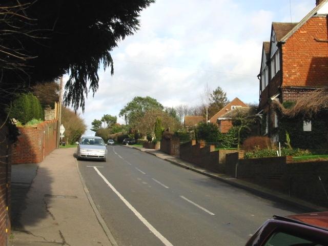 View up Preston Hill.