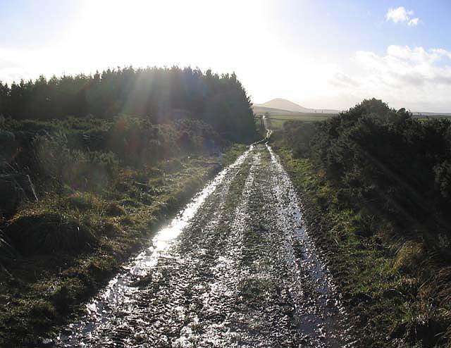 The Southern Upland Way at Kedslie Hill