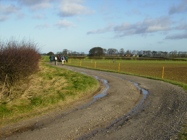 Bridleway lying on the North - East Yorkshire border line