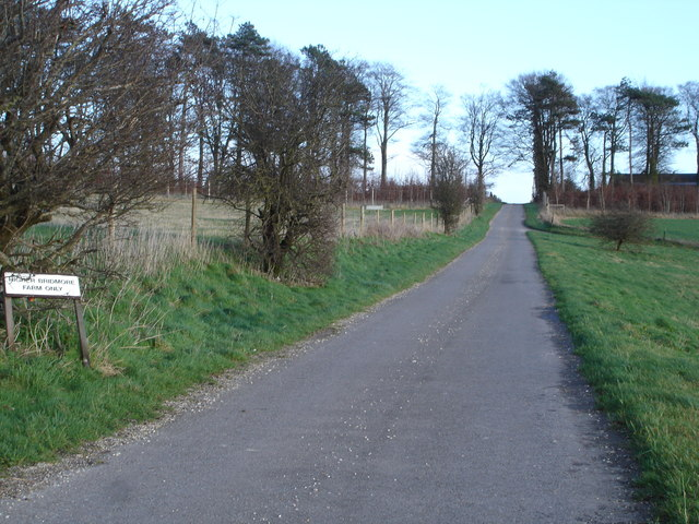 Lane to Higher Bridmore Farm