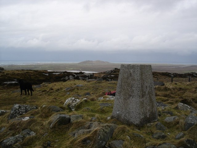 Triangulation pillar on Carnan Mòr