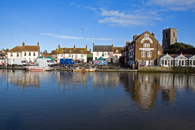 Wareham Saturday Market by River Frome