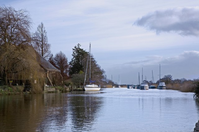 Boats at Wareham on River Frome