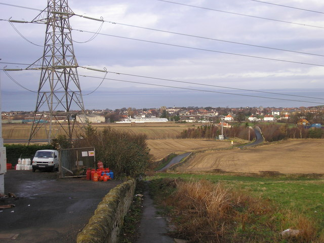 Path, Pylon and Prestonpans, from Tranent