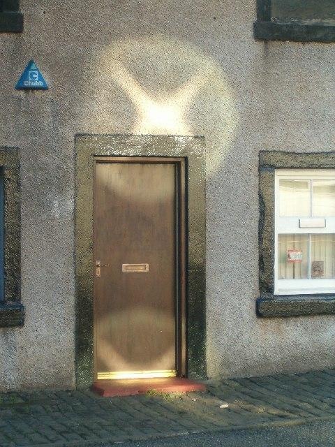Reflections on the distillery door