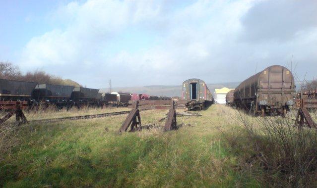 Railway sidings at Margam steel works