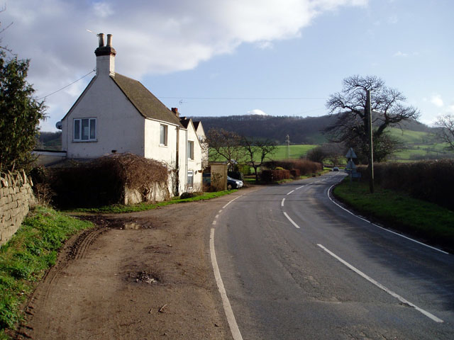 Houses on the outskirts of Frocester