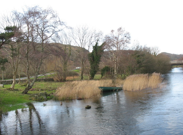 Afon Rhythallt from Pont Penllyn