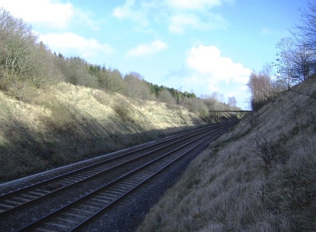 Railway cutting near Hullavington