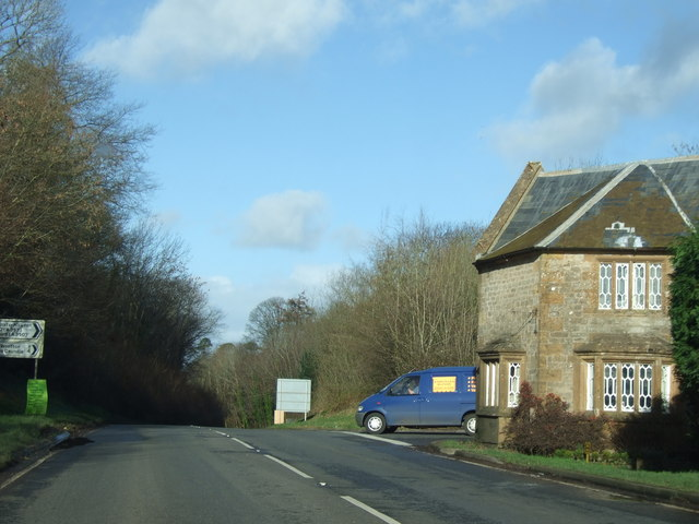 Westhill Lodge at the road junction above Sherborne