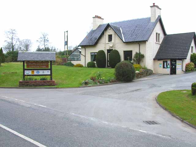 Entrance to Drumlochart Caravan Park