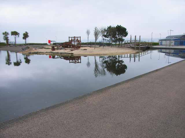 Marine Lake, Stranraer sea front