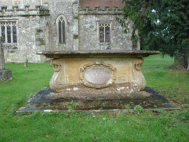 Elaborate tombstone - Donhead St Andrew