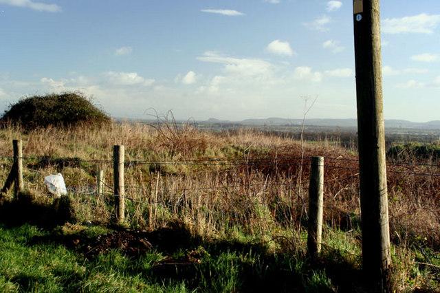 Beeston Castle from Gegin Lane