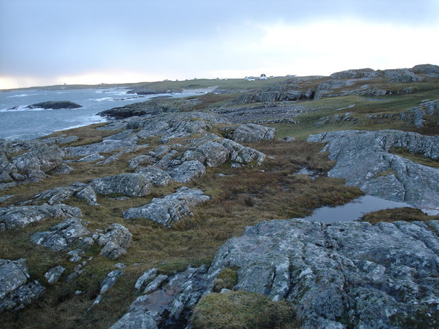 Rocky coast of the most northerly part of Tiree