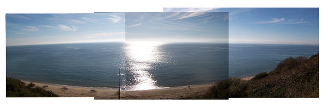 Bournemouth Beach, West Cliff (pseudo-panorama)