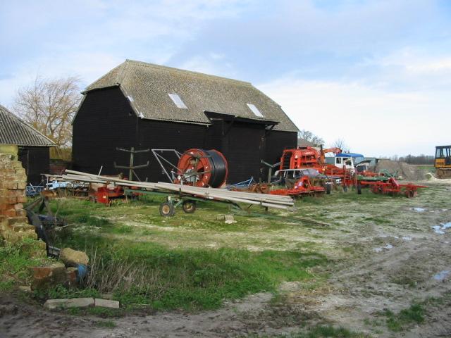 Barn and farm machinery, Little Walmestone.