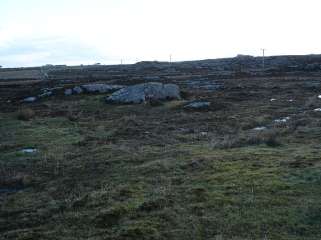 Moorland with rocky outcrops near Caolas