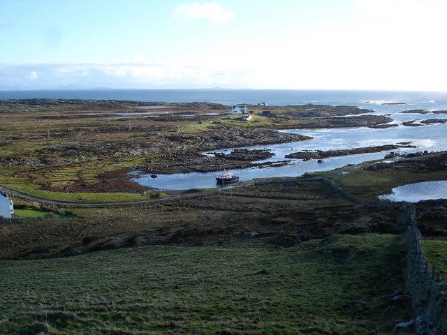 Looking down on Milton from Dùn Mòr a' Chaolais