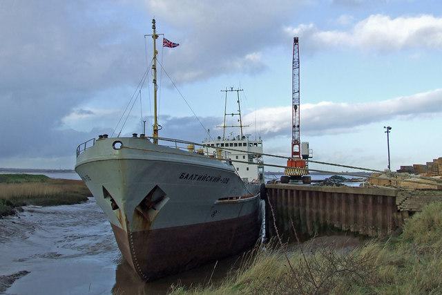 The Baltiyskiy-108 at Barrow Haven Timber Wharf