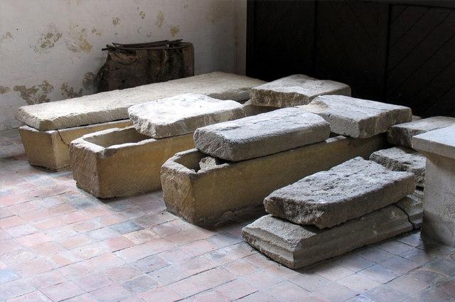 St Peter, Wolferton, Norfolk - Stone coffins