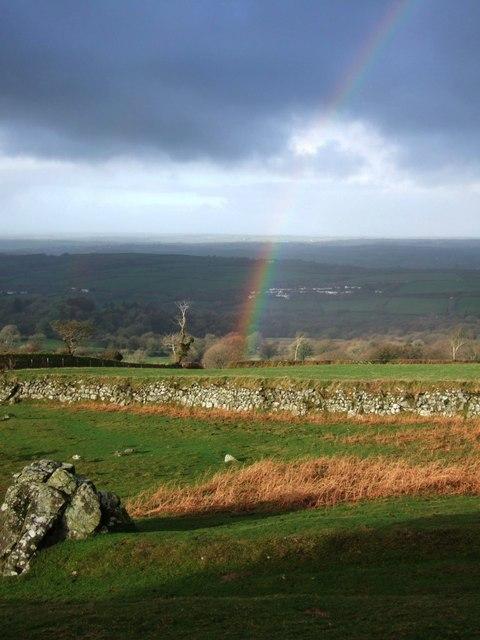 Rainbow near Sourton