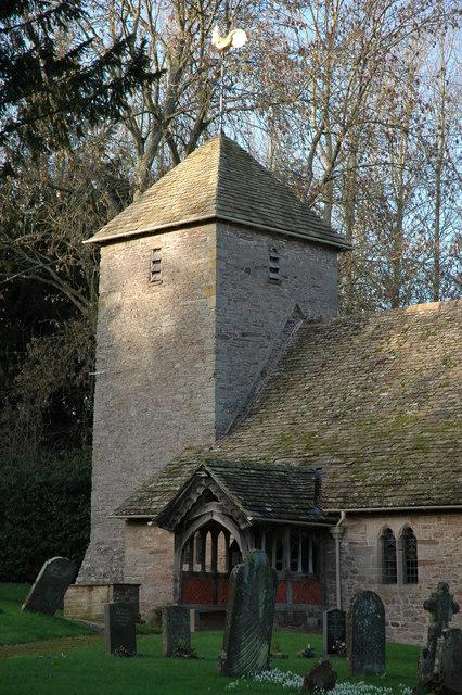 Church tower, Sarnesfield church