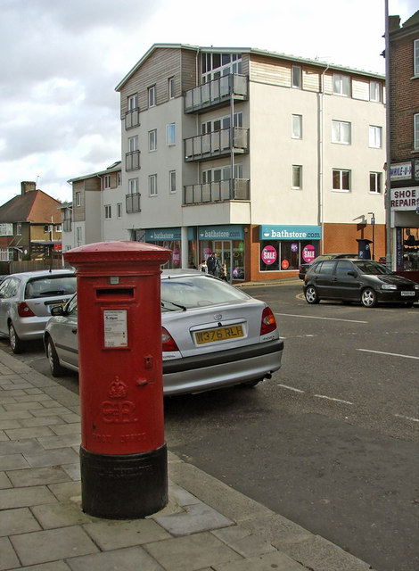 Winchmore Hill Road Southgate, N14,  with Edward VIII Pillar Box