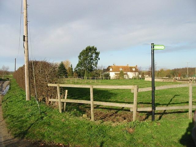 Deerson Farm from Deerson Lane.