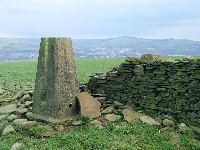 Trig pillar on Mynydd Drumau