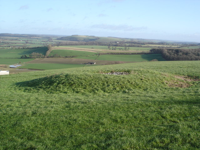 Tumulus above Charlton Down