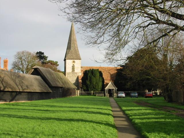 Ickham church and village green.