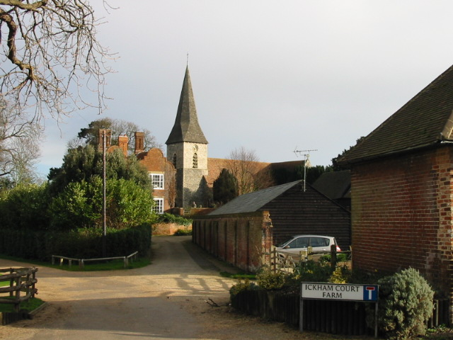 Ickham Court Farm and Church.