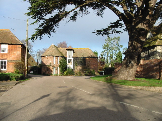 Converted oast house at junction of Wickham and Drill Lanes and The Street