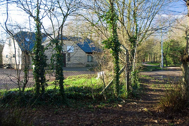 Thicket path running past Cromwell Scouts Headquarters